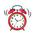 cartoon red ringing alarm clock vector image