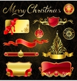 Christmas golden design elements and magnificent vector image vector image