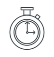 chronometer line icon vector image