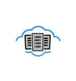 cloud host logo vector image vector image