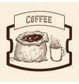 Coffee icon design vector image vector image