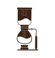 coffee syphon brew method isolated icon style vector image vector image