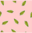 coloured corn seamless pink pattern vector image