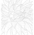 contour cactus with spines for coloring book vector image
