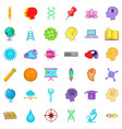 creative puzzle icons set cartoon style vector image vector image