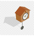 cuckoo clock isometric icon vector image vector image