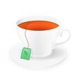 cup of tea 05 vector image vector image