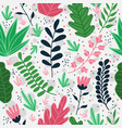 cute seamless pattern with exotic florals vector image