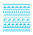 decorative blue sea waves water marine vector image vector image