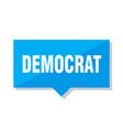 democrat price tag vector image vector image