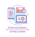 email newsletters concept icon marketing vector image vector image