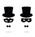 face man with mask vector image