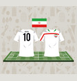 football iran sport wear tshirt vector image vector image