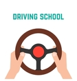 hand holding steering wheel vector image vector image