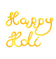 happy holi greeting card for the festival of vector image