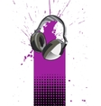 Headphone Poster vector image vector image