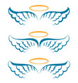 heaven angeles wings vector image