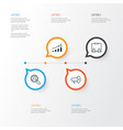 human icons set collection of presentation find vector image