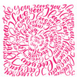 i love you valentines day text circle vector image vector image