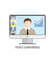 icon video conference vector image vector image