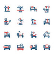 industrial equipment icon set vector image vector image