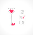 Key to my heart vector image