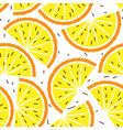 lemon and orange seamless pattern tropical fruits vector image vector image