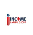 logo for income capital group vector image
