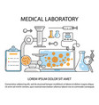 medical laboratory website vector image