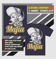 mock up clothing company t-shirt templatewolf vector image vector image