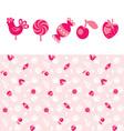 newborn rose pattern vector image vector image