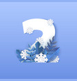 number two winter natural vector image vector image