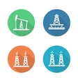 Oil industry flat design icons set vector image vector image