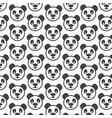 panda pattern background vector image