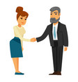 people shaking hands vector image vector image