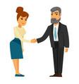 people shaking hands vector image