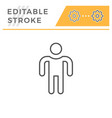 person editable stroke line icon vector image vector image