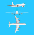 realistic detailed 3d plane set vector image