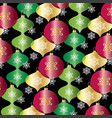 red green gold overlapping ornaments pattern vector image vector image