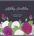 romantic greeting card on dark background vector image vector image
