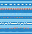seamless pattern horizontal lines red blue vector image vector image