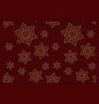 seamless pattern on winter theme vector image vector image