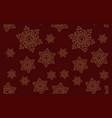 seamless pattern on winter theme vector image