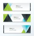 Set Bright modern abstract banner design green vector image