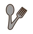 spoon and fork utensils kitchen design vector image vector image