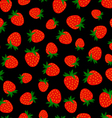 Strawberry Black Pattern vector image vector image