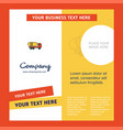 tanker truck company brochure template busienss vector image