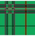 Tartan green seamless pattern vector image vector image