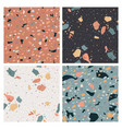 terrazzo seamless pattern flooring abstract marble vector image vector image