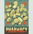 typographic retro grunge pharmacy poster vector image